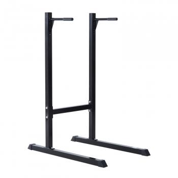 Estación Dip De Musculación Homcom Acero 100x65x135cm, Negro