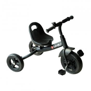 Triciclo Para Niños Negro Homcom