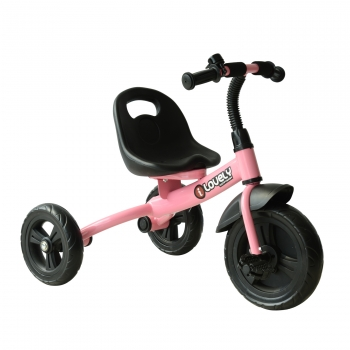 Triciclo Para Niños Con Timbre Rosa Homcom