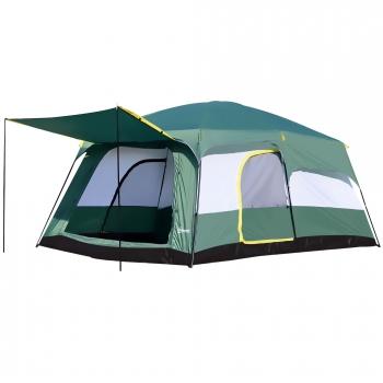 Outsunny Tienda De Campaña Familiar 8 10 Personas Carpa Grande Acampada  Tipo Refugio Para Playa