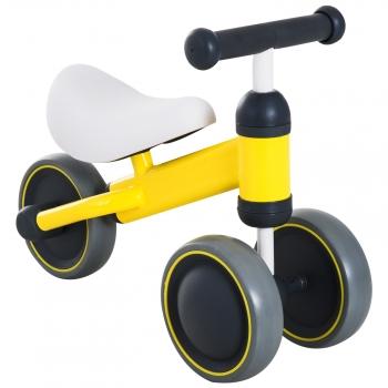 Triciclo Bicicleta Sin Pedales Para Niños Amarillo Homcom