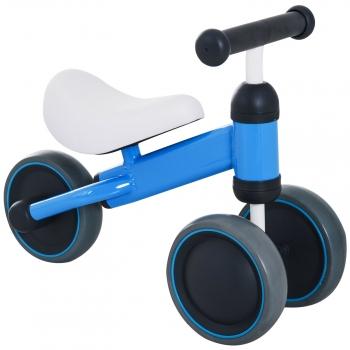 Triciclo Bicicleta Sin Pedales Para Niños Azul Homcom