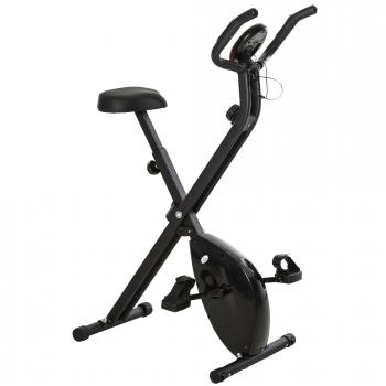 Bicicleta Estática Plegable Homcom Acero Pp Eva 86x41x112cm, Negro.