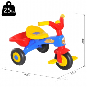 Triciclo Infantil Evolutivo Con Bocina Multicolor Homcom