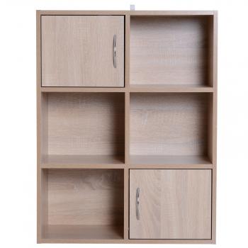 Homcom® Librería Estantería De 6 Cubos Estantería De Madera Para Almacenaje  Exposición 3 Niveles 61.5 0e8b9a300a5a