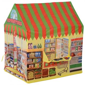 Tienda De Juego De Supermercado Para Niños Multicolor Homcom