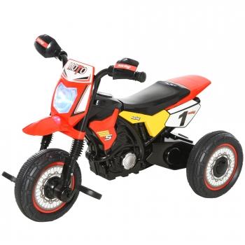 Moto Infantil Con 3 Ruedas Rojo Homcom