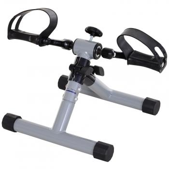 Mini Bicicleta Estática Ejercicio Homcom Acero 33x34x32cm, Plateado