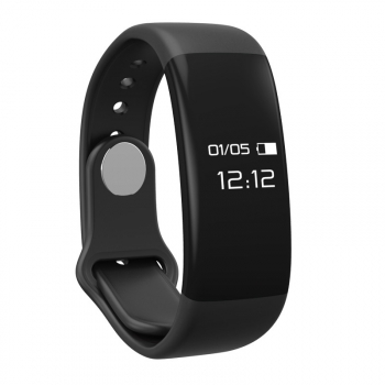 Pulsera Deportiva Bluetooth Con Frecuencia Cardiaca Mmtek Color Negro Compatible Android E Iphone