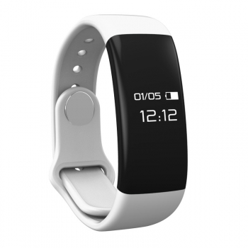 Pulsera Deportiva Bluetooth Con Frecuencia Cardiaca Mmtek Color Blanco Compatible Android E Iphone