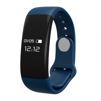 Pulsera Deportiva Bluetooth Con Frecuencia Cardiaca Mmtek Color Azul  Compatible Android E Iphone