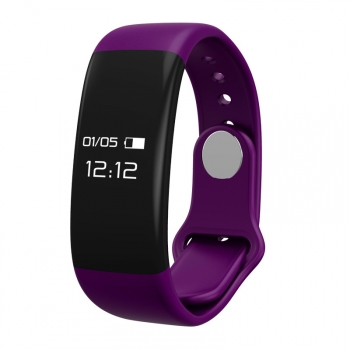 Pulsera Deportiva Bluetooth Con Frecuencia Cardiaca Mmtek Color Morado  Compatible Android E Iphone