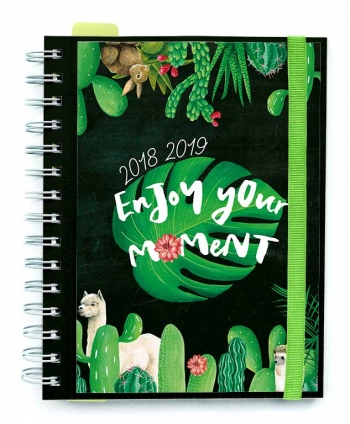 Agenda Escolar 18/19 Semana Vista Wire-o Internacional Enjoy Your Moment