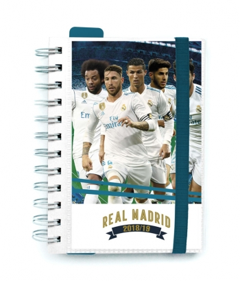 Agenda Escolar 18/19 Dia Pagina Wire-o Internacional Real Madrid