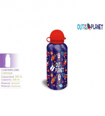 Out Planet Kl10276. Botella De Aluminio.