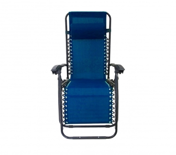 485330 Silla Plegable Azul Evertop Totalmente Reclinable Gravità Zero