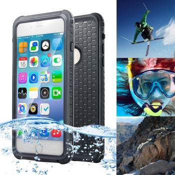2699ee815e2 Carcasa Acuatica Negra Para Iphone 7 Plus Funda Sumergible Waterproof