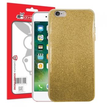 7fa16532e22 Donkeyphone - Funda Carcasa Silicona Rigida Brillante Dorado Glitter Con  Purpurina, Brillo, Bling,