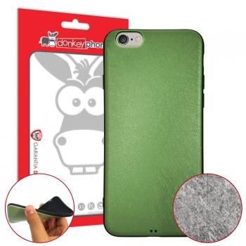 01a274b2ef2 Donkeyphone - Funda Carcasa De Gel Metalizada Con Efecto Rayado De Silicona  Tpu Verde Para Iphone