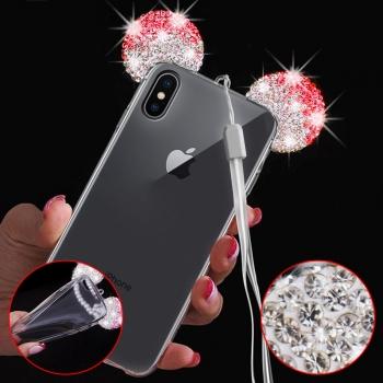 92920b4f70c Donkeyphone - Funda Carcasa De Gel Silicona Tpu Con Diseño Orejas Mickey  Brillante Rojo Iphone X