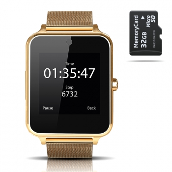 Smartwatch Smartek Sw-832 Metal Oro + 32gb Sd