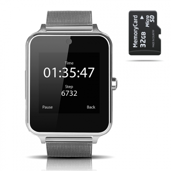 Smartwatch Smartek Sw-832 Metal Plata + 32gb Sd