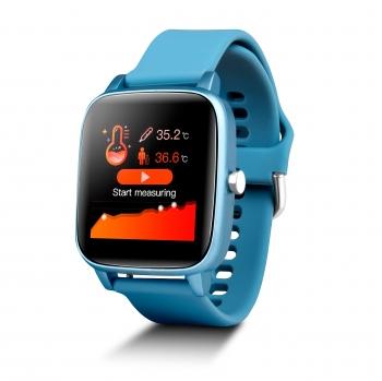 Smartwatch Deportivo Con Sensor De Temperatura Smartek Sw-660 Azul