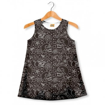 Vestido Fishikii B&w Old School