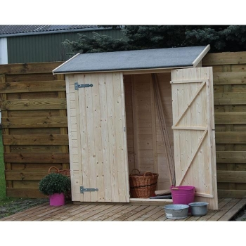 Armarios casetas de madera y arcones para jard n carrefour for Armario jardin carrefour