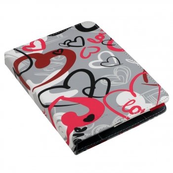 Funda Ebook Evitta Booklet Urban Trendy Crazy Hearts