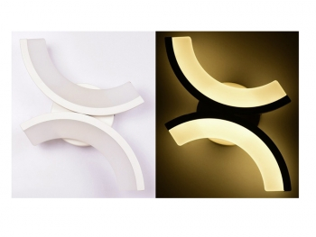 Aplique Led De Pared Diseño Eclipse Blanco Cálido 15 W Wl-eclipse