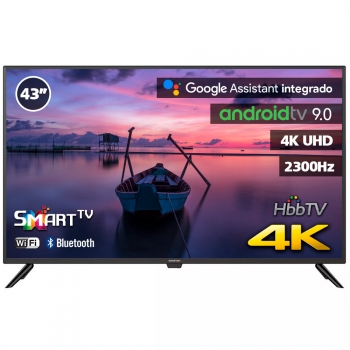 "Tv Led Infiniton 43"" Intv-43mu1400 4k Uhd 1400hz - Smart Tv - Android 9.0 - Reproductor Y Grabador Usb - Hdmi - Modo Hotel"
