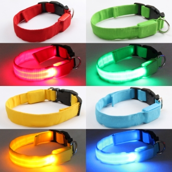 Collar Mascota Rojo Led Xxl