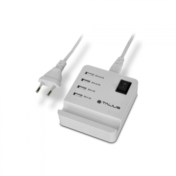 Talius Cargador Pared 4usb Con Cable Cha-4003 White