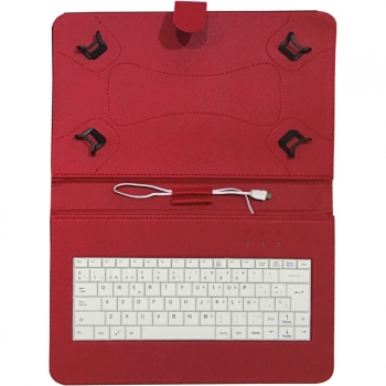 "Talius Funda Con Teclado Para Tablet 10"" Cv-3006 Red"