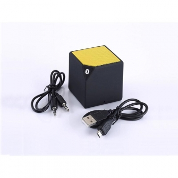 Coolbox Altavoz Bluetooth Cube Amarillo