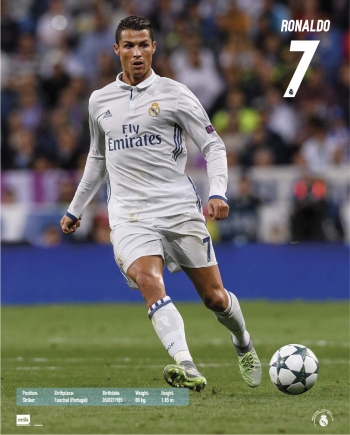 Mini Poster Real Madrid 2016 2017 Ronaldo Accion 8e395ec018