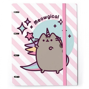 Carpeta 4 Anillas Troquelada Premium Pusheen The Cat