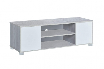Mesa Tv Color Roble Polar Y Blanco 120 X 40 X 41 Cm Hera