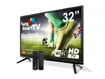 "Tv Led 32"" Npg S420l32h Smart Tv Android Hd Pvr Wifi  Bluetooth Tdt2 + Control Remoto Qwerty / Motion"