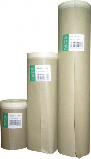 Papel Kraft Plus C/cinta 20m - Nerpel Plus - 2530 - 30 Cm