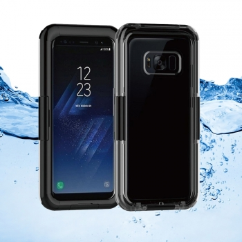 Donkeyphone - Carcasa Acuatica Negra Para Samsung Galaxy S8 Plus Funda Sumergible Waterproof