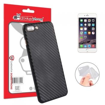 6fa41e643cc Donkeyphone - Funda Carcasa Trasera Semirrigida Fina Pp Diseño Fibra  Carbono Negra Iphone 7 Plus /