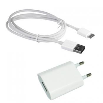 361b719e43d Donkeyphone -pack 2 En 1 Cargador Blanco Cable De Carga Y Datos Usb - Tipo