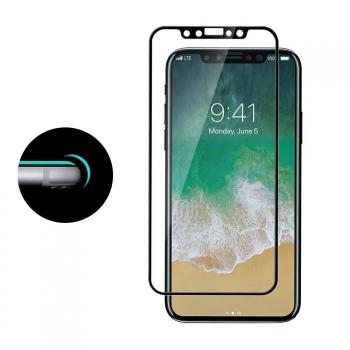 f3bf6a396b0 Donkeyphone - Protector Pantalla Completa Cristal Curvo 3d Borde Filo  Biselado Efecto Aluminio Negro Iphone X