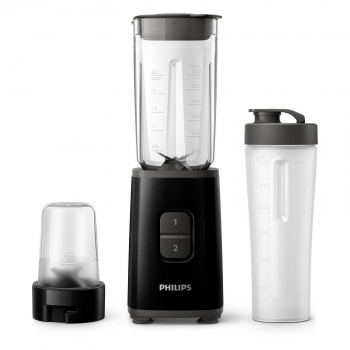 Batidora De Vaso Negra Mini Daily Collection Hr2603/90 Philips