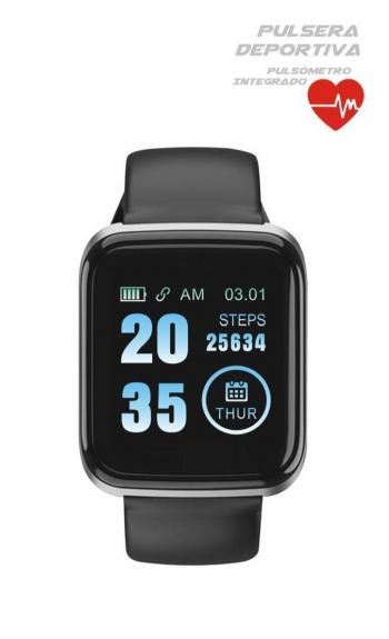 Reloj Inteligente, Pantalla Táctil Oled Smartwatch Con Monitoreo De Presión Arterial, Pulsómetro Anti Salpicaduras De Agua Ip67 Pulsera Actividad Inteligente Con Podómetro Y Monitoreo Del Sueño Para Android Y Ios