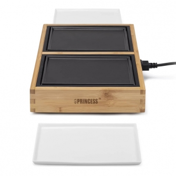 Princess Plancha De Mesa Dinner4two Pure Metal Y Madera De Bambú 420w