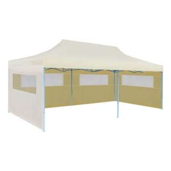 Vidaxl Carpa Para Fiestas Plegable Color Crema, 3 X 6 M