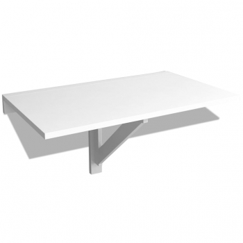 Vidaxl Mesa Plegable Pared Blanca 100x60 Cm